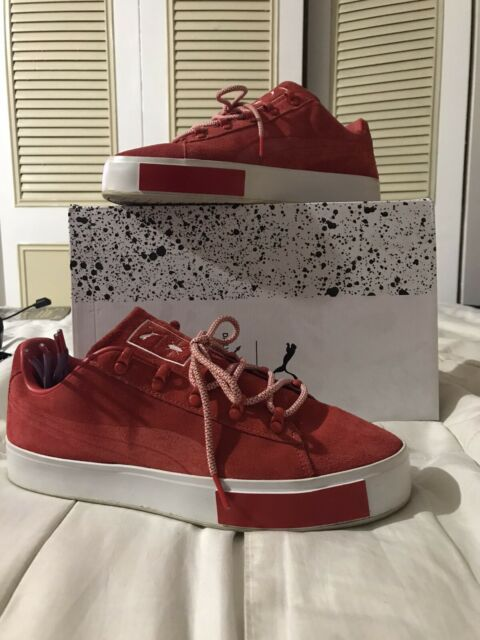 Puma X DailyPaper Collaboration Platform RED Suede Limited Shoes Men's Size 9.5