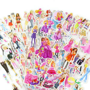 6 Barbie Sticker Sheets Birthday Party Loot Lolly Favor Bag Filler