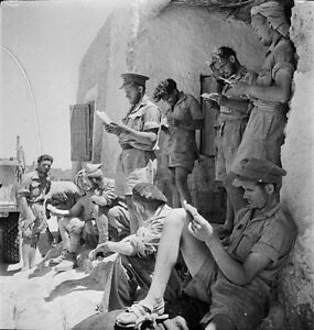 Ww2 Photo Wwii British Long Range Desert Group Mail Lrdg