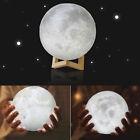 3D Moon Lamp Bed Room USB LED Night Light Moonlight Gift Touch Sensor Fashion