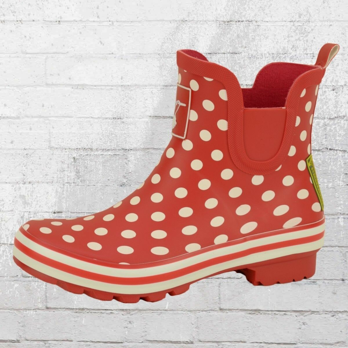 Evercreatures Breve Stivali di gomma Polka Dots Meadow rosso bianco puntini Wellies