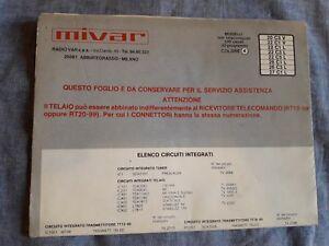 Schemi Elettrici Elettrodomestici : Tv mivar schema elettrico tv color . originale vedi foto ebay