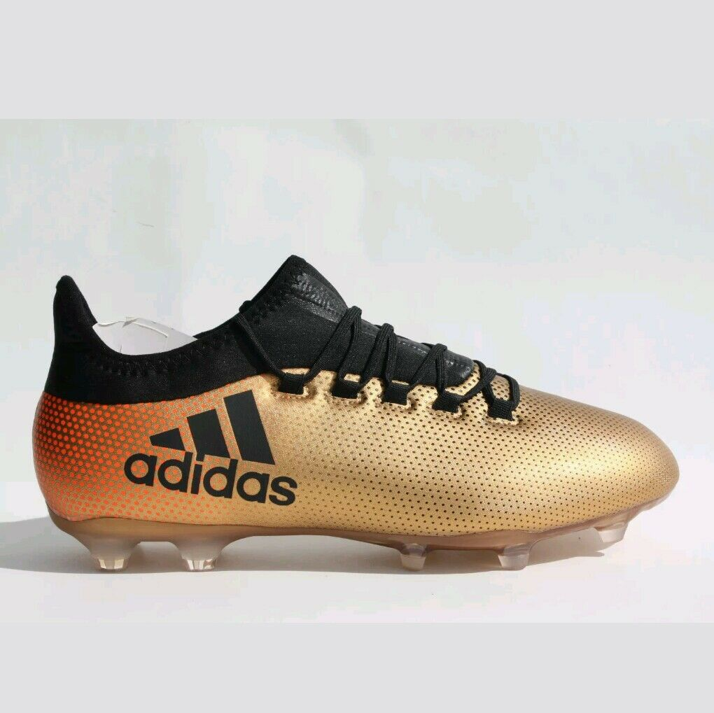 Adidas X17.2 Fg Gold/Nero Soccer Shoes ( CP9186 ) Boys Size 6.5