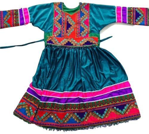 Emrald Green Kuchi Afghan Banjara Tribal Boho Ethnic Dress Eid Party Ladies