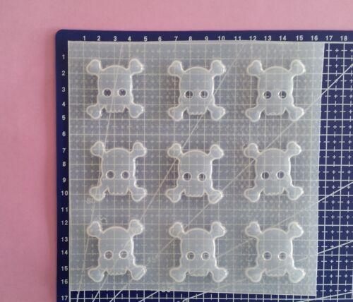 Small Crossbones Skull Resin Mold Mould Flexible Plastic Halloween Creepy Skulls