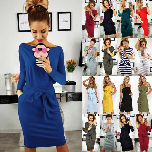 Womens Ladies Short Sleeve Floral Summer Party Evening Casual Midi Dress UK 6-16
