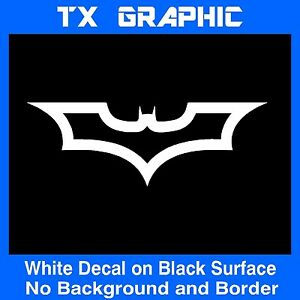 Image Is Loading BATMAN DARK KNIGHT LOGO SYMBOL STICKER OUTLINE CAR