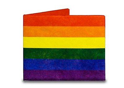 TYVEK Gay Pride Fun Rainbow Flag Design Mens Mighty Wallet By Dynomighty  DY679