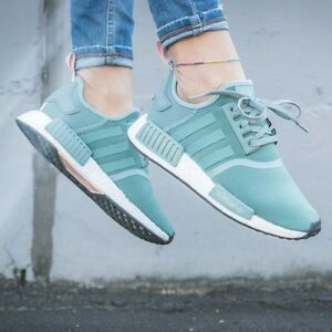 ba6af8235b68 ADIDAS NMD US UK 3 4 5 6 7 8 9 .5 VAPOR STEEL GREEN PINK R1 TEAL GS ...