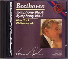 Leonard BERNSTEIN: BEETHOVEN Symphony No.4 & 5 New York CBS CD 1986 Sinfonien