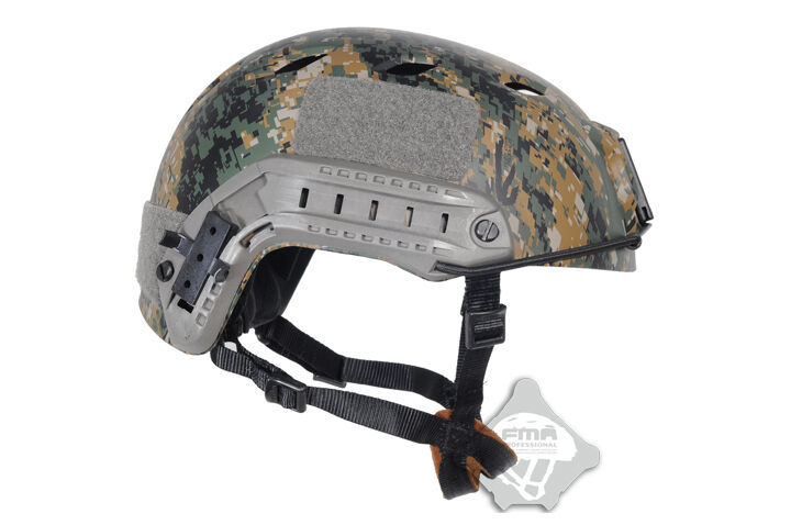 Airsoft FAST Base Jump BJ Type  Helmet w Rail SWAT Military SetDigital Woodland  the lowest price