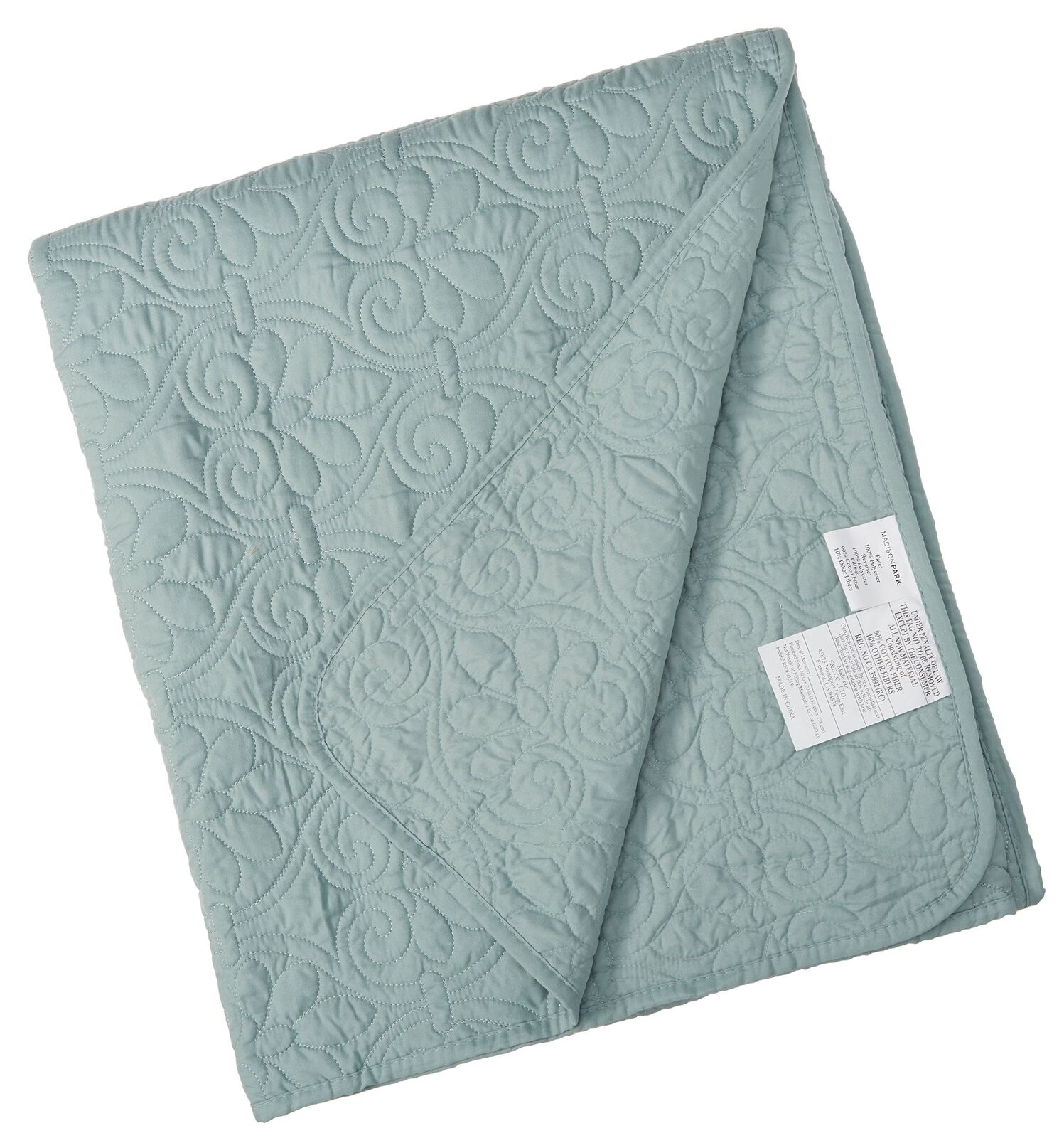 Madison Park Quebec Luxury Oversized Quilted Throw Seafoam 60x7... Free Shipping