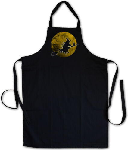 Witch Moon BBQ Apron Cooking Apron Walpurgis Night Halloween Witch Broom Hangover