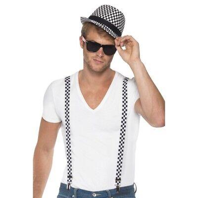 Men's Madness Ska Cappello Bretelle Occhiali Kit Anni'80 Anni'70 Costume Olly Murs Stag-mostra Il Titolo Originale