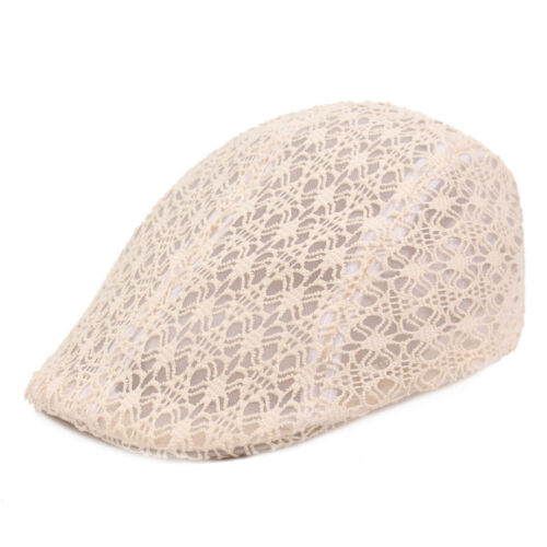 Women Ladies Fashion Lace Beret Driving Sun Cap Casual Cabbie Newsboy Hat NEW