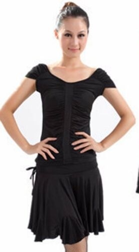 SGS45BK New Black Ballroom Latin Rhythm Salsa Swing Club Dance Skirt With Trunk