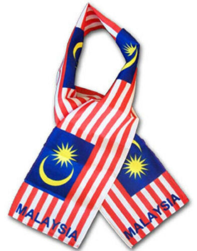 "Malaysia Country Lightweight Flag Printed Knitted Style Scarf 8/""x60/"""