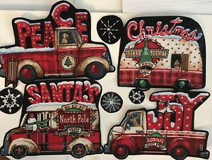 Christmas-Holiday-Vehicles-Iron-On-Fabric-Appliques-Campers-Dogs