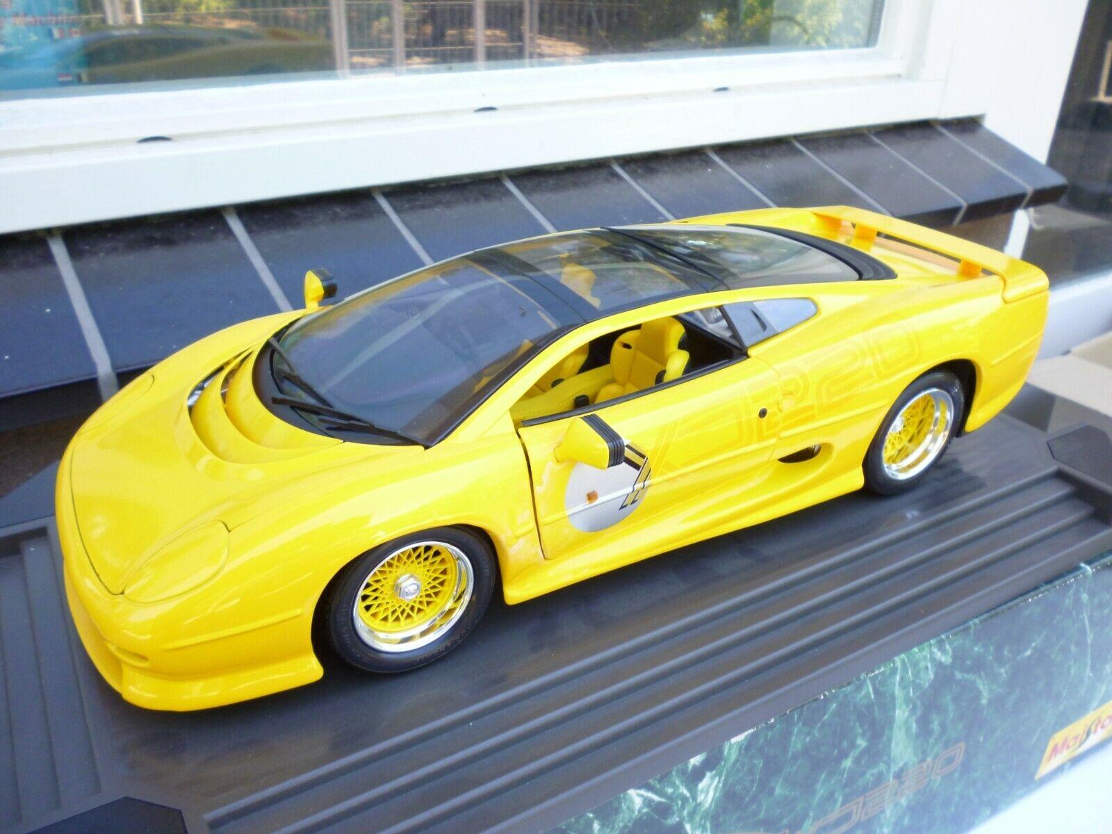 punto de venta de la marca (MAISTO) 1 12 SCALE JAGUAR XJ220 amarillo Racing    BBS   RECocheO  Coche (RARE  NM BOX  autorización oficial
