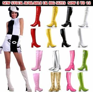 New-Women-039-s-Ladies-Fancy-Dress-Party-GOGO-Boots-60s-amp-70s-Party-Sizes-3-TO-12