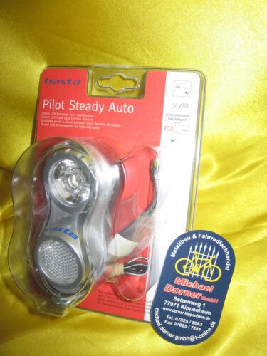 AXA Basta Pilot Steady LED Lampe Scheinwerfer Nabendynamo Standlicht Automatik