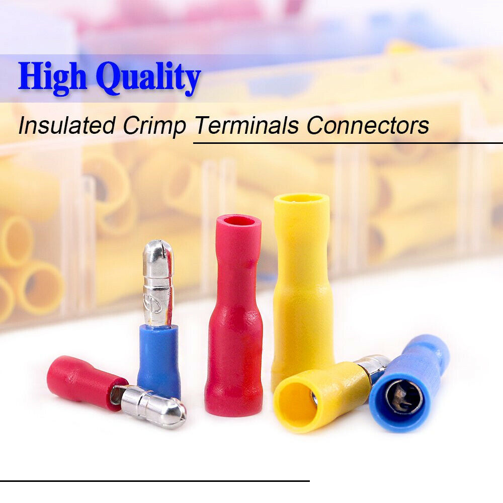 50pcs 22-18 AWG Non Insulated Male LUG Terminals 12-1205