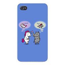Uni Rhino Funny Horse & Rhino Unicorn Fun FITS iPhone 5 5s Plastic Snap On Case