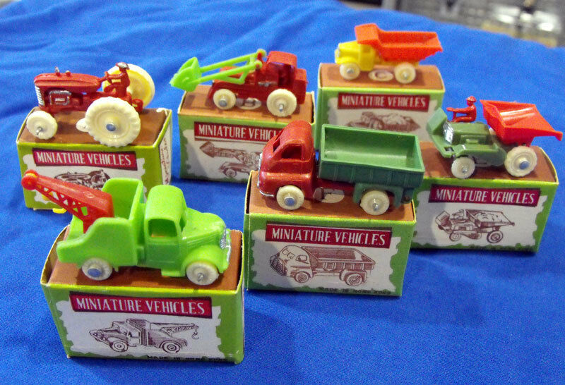 Miniature Vehicles Lot Set A-F Boxed Vintage Toy Vehicles Made in Hong Kong