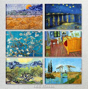 Van gogh quadri riproduzione arte 70x50 50x70 stampa tela for Quadri arredo salotto