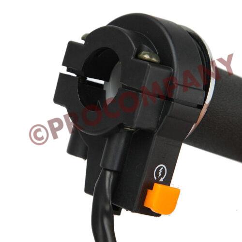 "Throttle Control Handlebar Grip Kill Switch 49-80cc Motorized Bike 7//8/""OD"