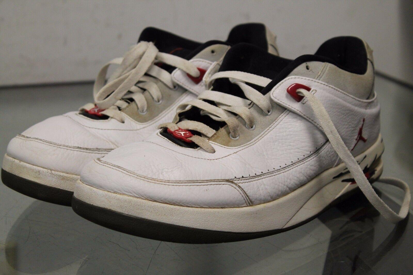 new arrival 26f74 f9328 Nike jordan jordan jordan zapatillas de baloncesto blanco negro de cuero  clásico de 23 317770-