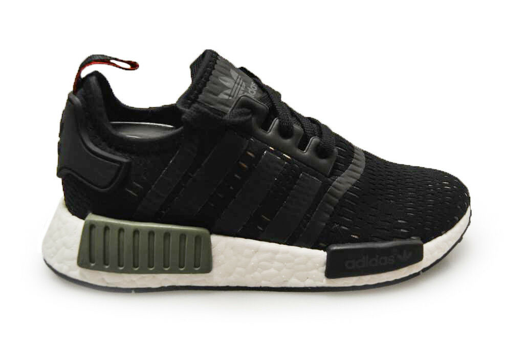Mens Adidas NMD_R1 - BB1357 - Black Green White Trainers