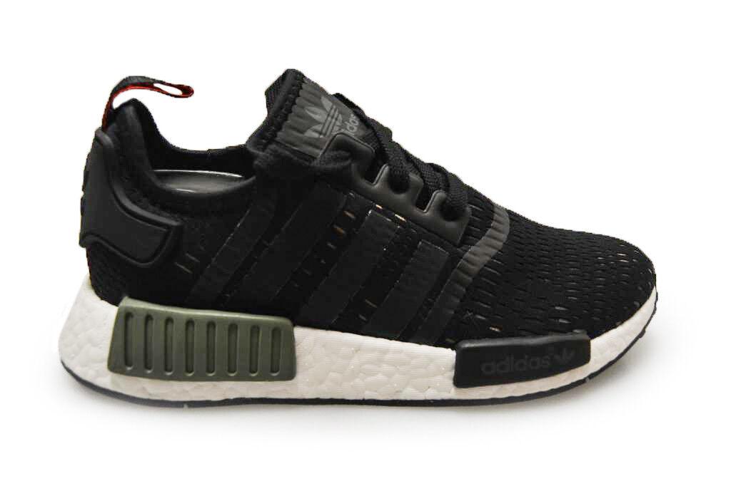 Hombre Adidas NMD 1  -Bb1357 - nero verde pantofole biancaas  consegna gratuita e veloce disponibile