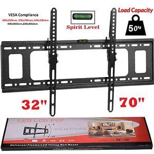 Slim-TV-Wall-Bracket-Mount-Tilt-For-32-40-42-50-55-60-65-70-Inch-Plasma-LCD-LED