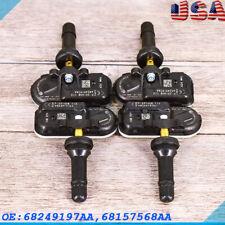 4 Tpms Fit 2014 2018 Dodge Ram 1500 2500 3500 Tire Pressure Sensor 68249197aa