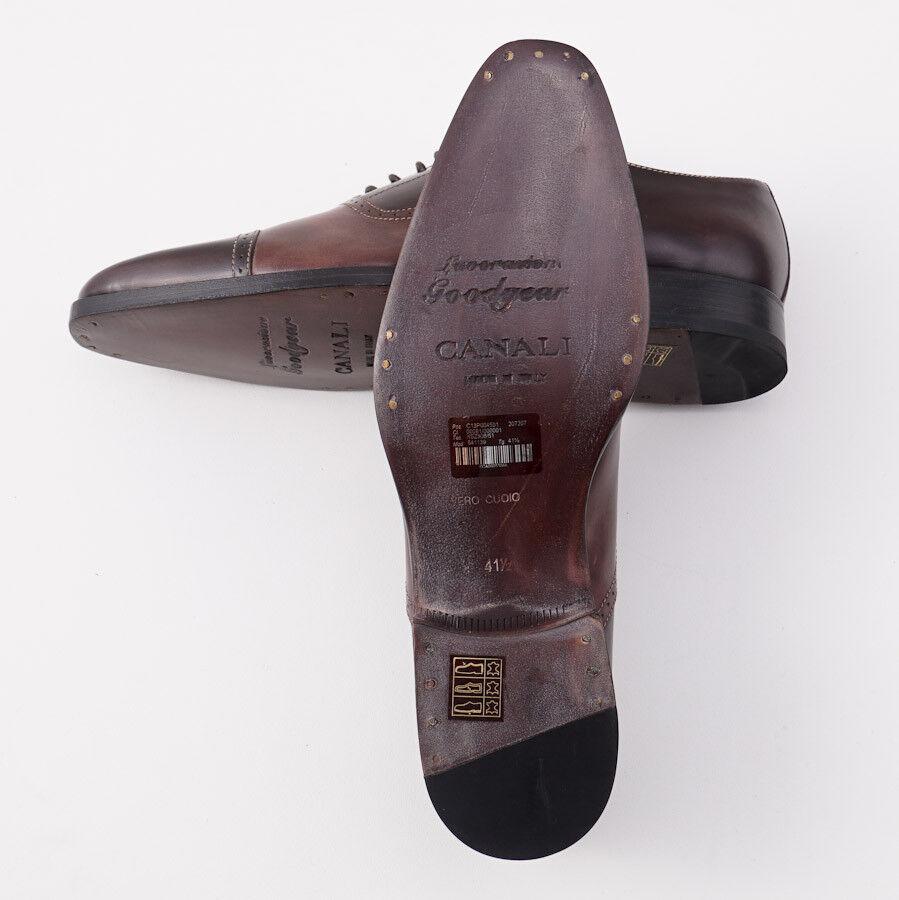 Nib Canali 1934 Goodyear Zébrure Zébrure Zébrure Two-Tone Balmoral Us 8.5 D Chaussures Habillées | Pour Gagner L'éloge Chaleureux De La Part Des Clients  | Moderne Et élégant à La Mode  | Technologies De Pointe  7fa6fa