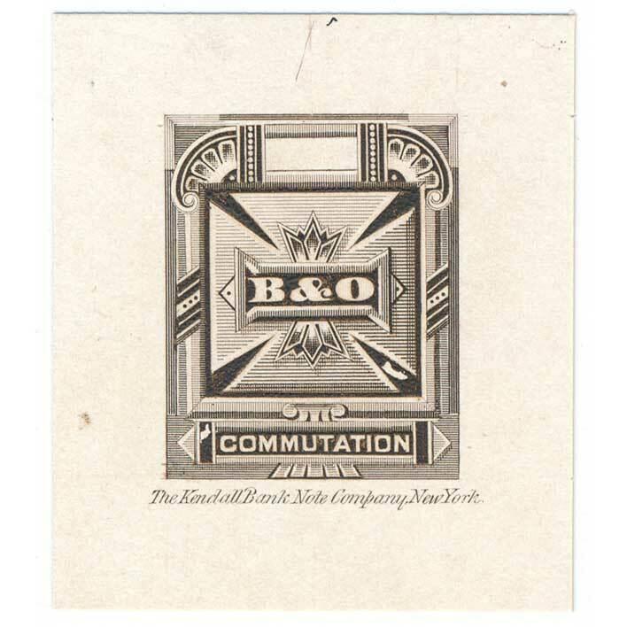 1886 3T9-P1 DIE PROOF Baltimore & Ohio Telegraph Co.