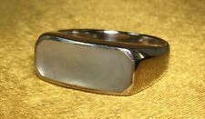 Vintage 925 Fine Sterling Silver/ Moonstone Gemstone Ladies Ring Size- 8 1/2