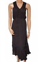 BN Ladies Black Lace Crinkle Evening Dress - UK 18 - 28