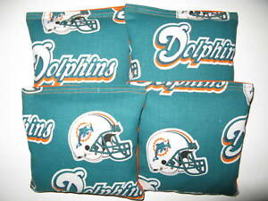 Image Is Loading Miami Dolphins 4 Bean Bags Aca Regulation