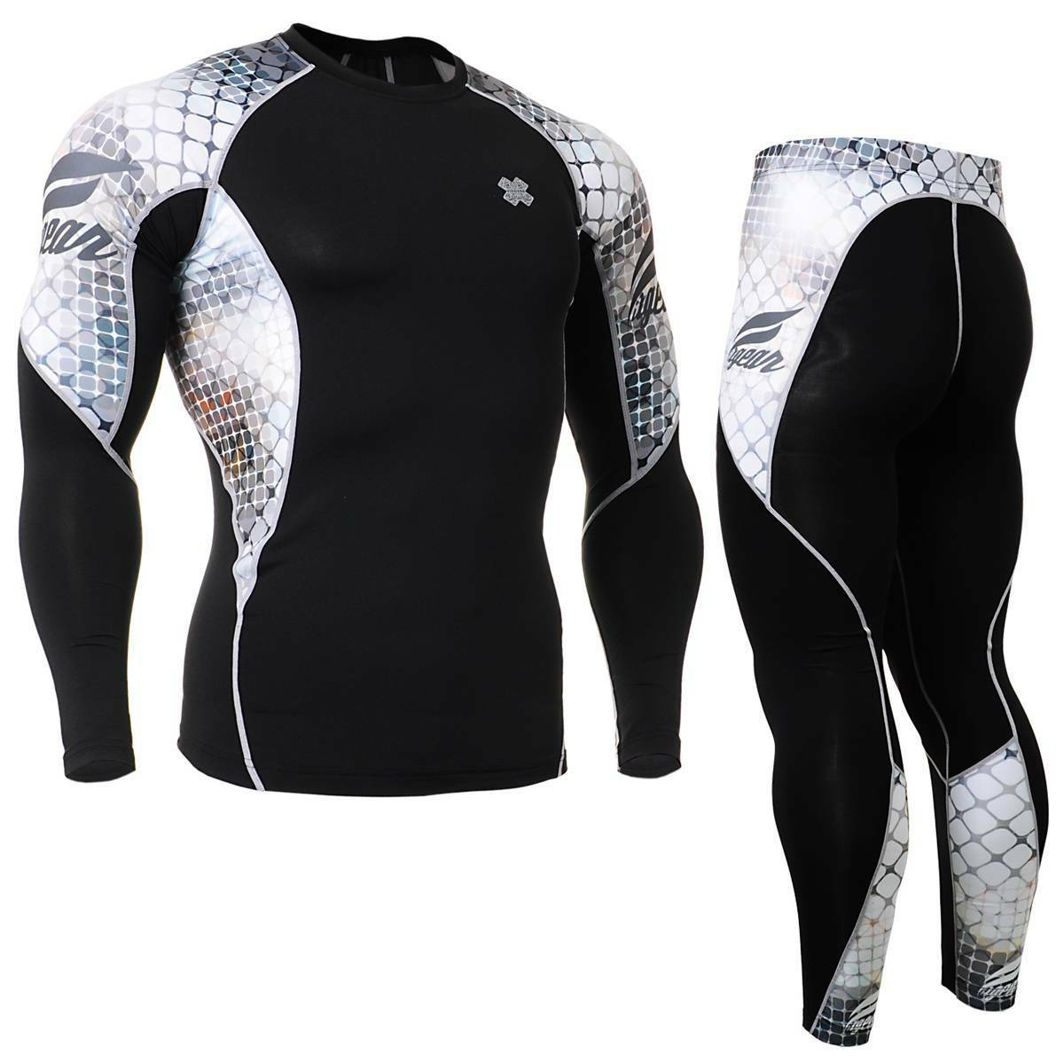 FIXGEAR C2L P2L-B38 Compression Shirts & Shorts Set Sportswear MMA Training Gym