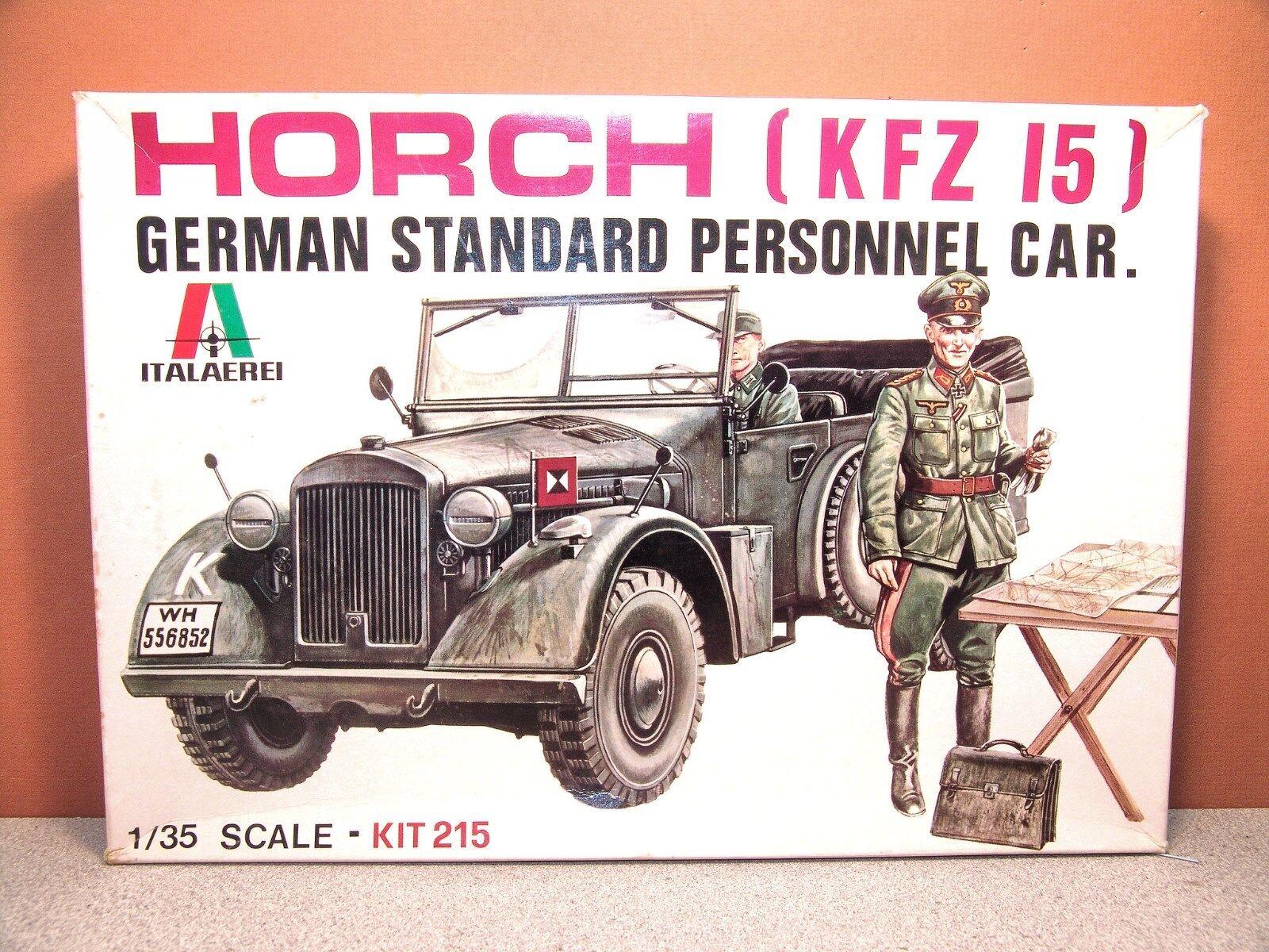 1 35 ITALERI HORCH KFZ15 GERMAN STANDARD PERSONNEL CAR MODEL KIT