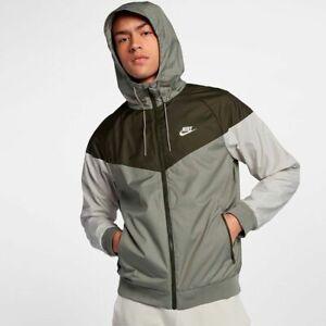 Nike Windbreaker Hooded Jacket Green Black Mens Size M | eBay