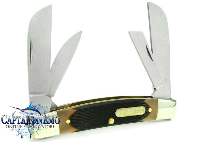 SCHRADE OLD TIMER BIG MAN 4 BLADE MASTER FOLDING POCKET KNIFE CAMP KNIFE 4OT