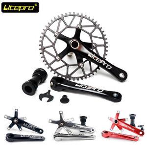Litepro-Hollow-130BCD-Bike-Crankset-170mm-Crank-Set-Narrow-Wide-Chainring-BB