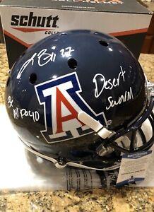 Lance-Briggs-Signed-amp-Inscribed-Full-Size-Schutt-Arizona-Helmet-Beckett-COA