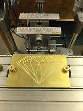 LARGE DIAMOND BRASS MASTER TEMPLATE FOR NEW HERMES ENGRAVER-HOMEMADE JEWELRY