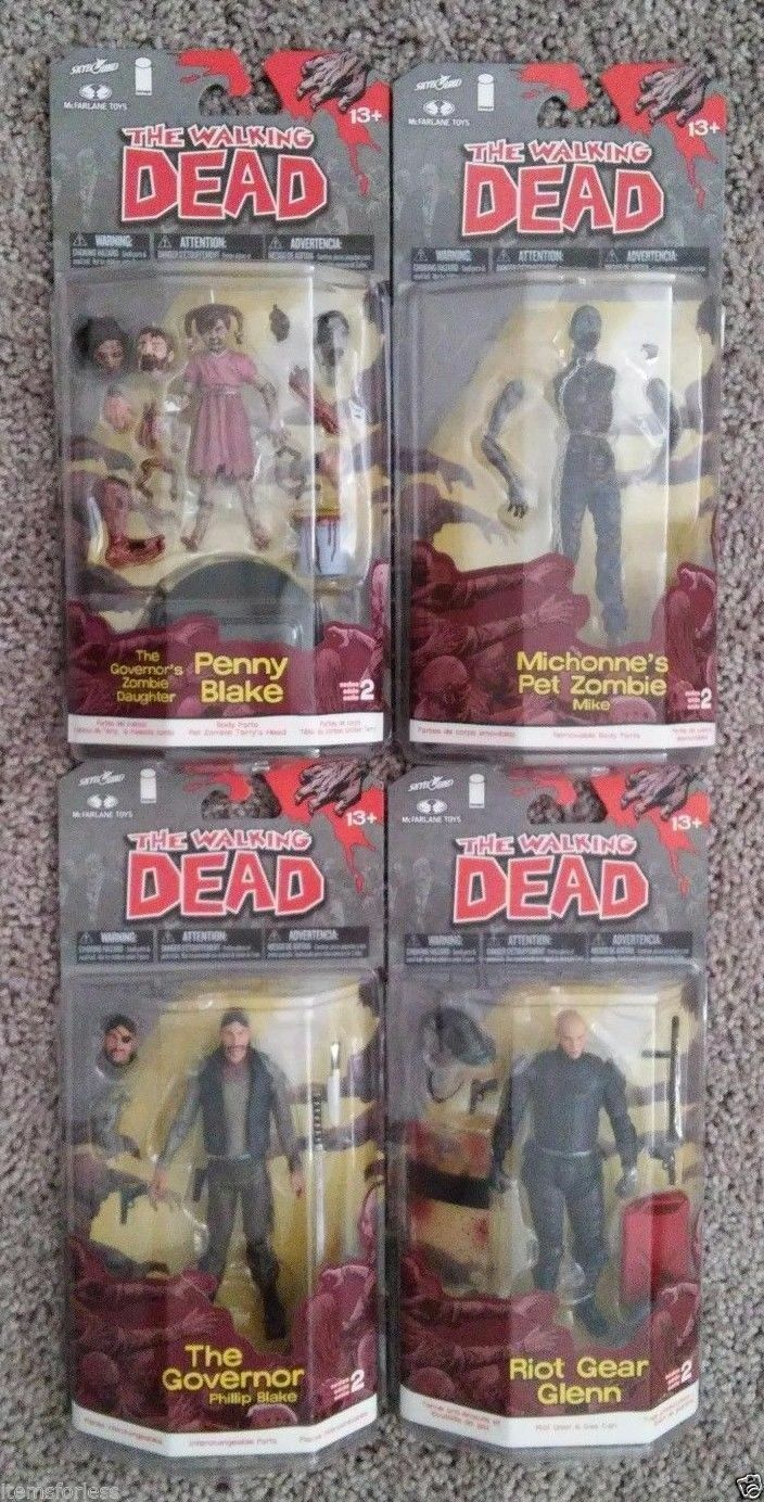 The Walking Dead Figures Governor Phillip Penny Blake Glenn Michonne Zombie NEW