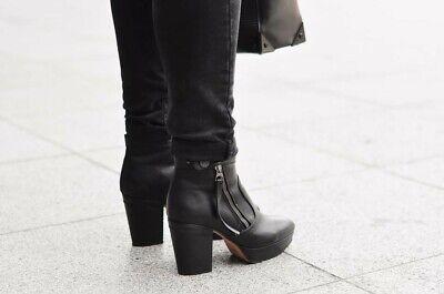 Black Acne Studios Track Boots Size