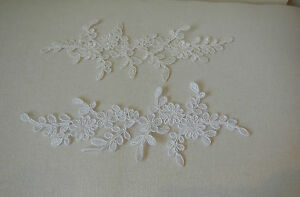 Bless beaded embroidered lace applique large shine trim